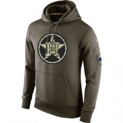 Wholesale Cheap Men's Houston Astros Nike Olive Salute To Service KO Performance Hoodie
