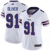 Wholesale Cheap Nike Bills #91 Ed Oliver White Women's Stitched NFL Vapor Untouchable Limited Jersey