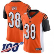 Wholesale Cheap Nike Bengals #38 LeShaun Sims Orange Alternate Youth Stitched NFL 100th Season Vapor Untouchable Limited Jersey