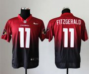 Wholesale Cheap Nike Cardinals #11 Larry Fitzgerald Red/Black Men's Stitched NFL Elite Fadeaway Fashion Jersey