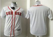 Wholesale Cheap Red Sox Blank White Cool Base Stitched Youth MLB Jersey