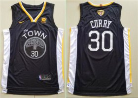 Wholesale Cheap Nike Golden State Warriors #30 Stephen Curry Black City Edition 2018 NBA Finals Nike Swingman Jersey