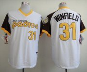 Wholesale Cheap Padres #31 Dave Winfield White 1978 Turn Back The Clock Stitched MLB Jersey