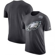 Wholesale Cheap NFL Men's Philadelphia Eagles Nike Anthracite Crucial Catch Tri-Blend Performance T-Shirt