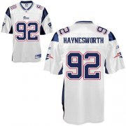 Wholesale Cheap Patriots #92 Albert Haynesworth White Stitched NFL Jersey