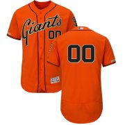 Wholesale Cheap San Francisco Giants Majestic Alternate Flex Base Authentic Collection Custom Jersey Orange