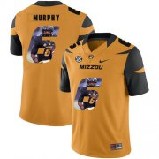 Wholesale Cheap Missouri Tigers 6 Marcus Murphy III Gold Nike Fashion College Football Jersey