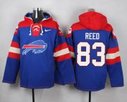 Wholesale Cheap Nike Bills #83 Andre Reed Royal Blue Player Pullover NFL Hoodie