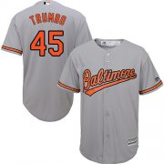 Wholesale Cheap Orioles #45 Mark Trumbo Grey Cool Base Stitched Youth MLB Jersey