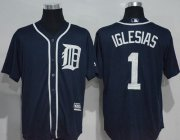 Wholesale Cheap Tigers #1 Jose Iglesias Navy Blue New Cool Base Stitched MLB Jersey
