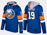 Wholesale Cheap Islanders #19 Bryan Trottier Blue Name And Number Hoodie