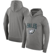 Wholesale Cheap Philadelphia Eagles Nike Sideline Property of Performance Pullover Hoodie Gray