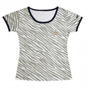 Wholesale Cheap Women's Nike New Orleans Saints Chest Embroidered Logo Zebra Stripes T-Shirt