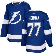 Wholesale Cheap Adidas Lightning #77 Victor Hedman Blue Home Authentic Stitched Youth NHL Jersey