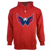Wholesale Cheap Washington Capitals Old Time Hockey Big Logo with Crest Pullover Hoodie Red