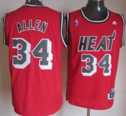 Wholesale Cheap Miami Heat #34 Ray Allen ABA Hardwood Classics Swingman Red Jersey