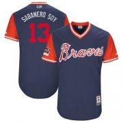 "Wholesale Cheap Braves #13 Ronald Acuna Jr. Navy ""Sabanero Soy"" Players Weekend Authentic Stitched MLB Jersey"