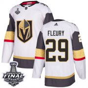 Wholesale Cheap Adidas Golden Knights #29 Marc-Andre Fleury White Road Authentic 2018 Stanley Cup Final Stitched Youth NHL Jersey