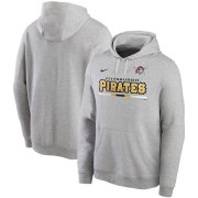 Wholesale Cheap Pittsburgh Pirates Nike Color Bar Club Pullover Hoodie Gray