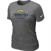 Wholesale Cheap Women's Nike Los Angeles Chargers Critical Victory NFL T-Shirt Dark Grey