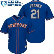 Wholesale Cheap Mets #21 Todd Frazier Blue New Cool Base Alternate Home Stitched MLB Jersey