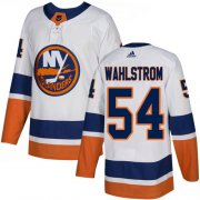 Wholesale Cheap Adidas Islanders #54 Oliver Wahlstrom White Road Authentic Stitched NHL Jersey