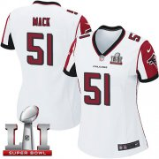 Wholesale Cheap Nike Falcons #51 Alex Mack White Super Bowl LI 51 Women's Stitched NFL Elite Jersey