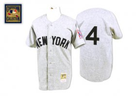Wholesale Cheap Mitchell And Ness 1939 Yankees #4 Lou Gehrig Grey Stitched MLB Jersey