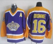 Wholesale Cheap Kings #16 Marcel Dionne Purple CCM Throwback Stitched NHL Jersey