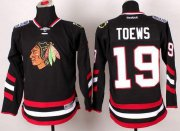 Wholesale Cheap Blackhawks #19 Jonathan Toews Black 2014 Stadium Series Stitched Youth NHL Jersey