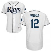 Wholesale Cheap Rays #12 Wade Boggs White Flexbase Authentic Collection Stitched MLB Jersey