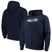 Wholesale Cheap Seattle Seahawks G-III Sports by Carl Banks Primary Logo Full-Zip Hoodie College Navy