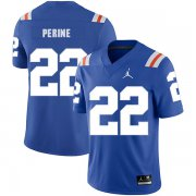Wholesale Cheap Florida Gators 22 Lamical Perine Blue Throwback College Football Jersey