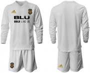 Wholesale Cheap Valencia Blank Home Long Sleeves Soccer Club Jersey