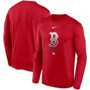 Wholesale Cheap Men's Boston Red Sox Nike Red Authentic Collection Legend Performance Long Sleeve T-Shirt