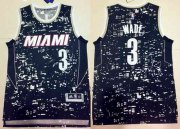 Wholesale Cheap Men's Miami Heat #3 Dwyane Wade Adidas 2015 Urban Luminous Swingman Jersey