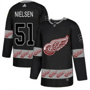 Wholesale Cheap Adidas Red Wings #51 Frans Nielsen Black Authentic Team Logo Fashion Stitched NHL Jersey