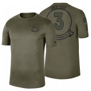 Wholesale Cheap Denver Broncos #3 Drew Lock Olive 2019 Salute To Service Sideline NFL T-Shirt