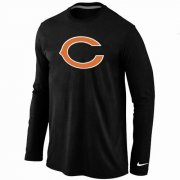 Wholesale Cheap Nike Chicago Bears Logo Long Sleeve T-Shirt Black
