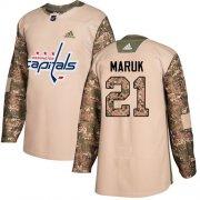 Wholesale Cheap Adidas Capitals #21 Dennis Maruk Camo Authentic 2017 Veterans Day Stitched NHL Jersey