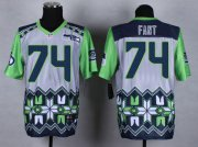Wholesale Cheap Nike Seahawks #74 George Fant Grey Men's Stitched NFL Elite Noble Fashion Jersey