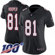 Wholesale Cheap Nike Falcons #81 Austin Hooper Black Alternate Women's Stitched NFL 100th Season Vapor Limited Jersey