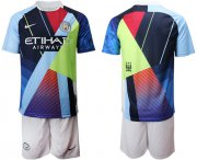 Wholesale Cheap Manchester City Blank Nike Cooperation 6th Anniversary Celebration Soccer Club Jersey