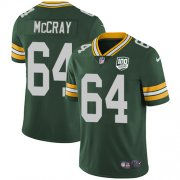 Wholesale Cheap Nike Packers #64 Justin McCray Green Team Color Men's 100th Season Stitched NFL Vapor Untouchable Limited Jersey