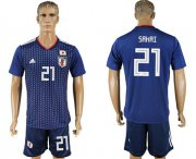 Wholesale Cheap Japan #21 Sakai Home Soccer Country Jersey