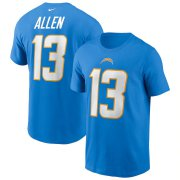 Wholesale Cheap Los Angeles Chargers #13 Keenan Allen Nike Team Player Name & Number T-Shirt Powder Blue