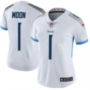 Wholesale Cheap Nike Titans #1 Warren Moon White Women's Stitched NFL Vapor Untouchable Limited Jersey