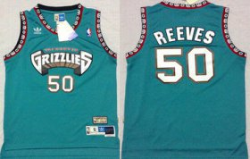 Wholesale Cheap Memphis Grizzlies #50 Bryant Reeves ABA Hardwood Classics Green Throwback Swingman Jersey