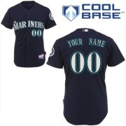 Wholesale Cheap Mariners Customized Authentic Black Cool Base MLB Jersey (S-3XL)