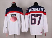 Wholesale Cheap 2014 Olympic Team USA #67 Max Pacioretty White Stitched NHL Jersey